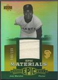 2006 Upper Deck Epic #JM Juan Marichal Materials Orange Jersey #046/155