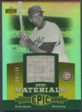 2006 Upper Deck Epic #EB Ernie Banks Materials Orange Jersey #134/155