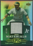 2006 Upper Deck Epic #RE2 Reggie Jackson Materials Dark Green Jersey #47/50