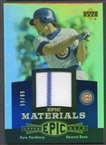 2006 Upper Deck Epic #RS2 Ryne Sandberg Materials Blue Jersey #59/99