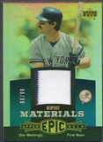 2006 Upper Deck Epic #DM2 Don Mattingly Materials Teal Jersey #90/99