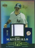 2006 Upper Deck Epic #DM1 Don Mattingly Materials Blue Jersey #54/99