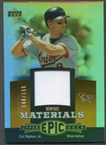 2006 Upper Deck Epic #CR2 Cal Ripken Materials Dark Orange Jersey #148/155