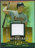 2006 Upper Deck Epic #CR1 Cal Ripken Materials Orange Jersey #080/185