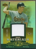 2006 Upper Deck Epic #CR1 Cal Ripken Materials Orange Jersey #181/185