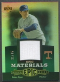 2006 Upper Deck Epic #NR1 Nolan Ryan Materials Green Jersey #21/75