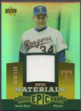 2006 Upper Deck Epic #NR3 Nolan Ryan Materials Orange Jersey #016/155