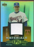 2006 Upper Deck Epic #NR3 Nolan Ryan Materials Dark Orange Jersey #035/155