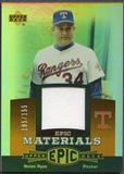 2006 Upper Deck Epic #NR3 Nolan Ryan Materials Dark Orange Jersey #105/155