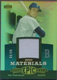 2006 Upper Deck Epic #CY1 Carl Yastrzemski Materials Teal Jersey #50/99