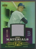 2006 Upper Deck Epic #CY1 Carl Yastrzemski Materials Dark Purple Jersey #057/155