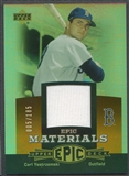 2006 Upper Deck Epic #CY1 Carl Yastrzemski Materials Dark Orange Jersey #005/185