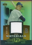 2006 Upper Deck Epic #CY1 Carl Yastrzemski Materials Dark Orange Jersey #025/185