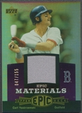 2006 Upper Deck Epic #CY2 Carl Yastrzemski Materials Dark Purple Jersey #047/155