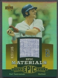 2006 Upper Deck Epic #CY2 Carl Yastrzemski Materials Orange Jersey #023/185