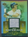 2006 Upper Deck Epic #CY2 Carl Yastrzemski Materials Dark Orange Jersey #051/185