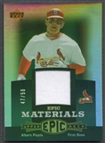 2006 Upper Deck Epic #AP1 Albert Pujols Materials Dark Green Jersey #47/50