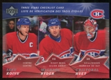 2007/08 McDonald's Upper Deck Three Stars Checklists #CL1 Saku Koivu/Michael Ryder/Cristobal Huet