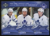 2007/08 McDonald's Upper Deck Three Stars Checklists #CL2 Mats Sundin/Darcy Tucker/Bryan McCabe