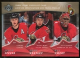 2007/08 McDonald's Upper Deck Three Stars Checklists #CL3 Jason Spezza/Dany Heatley/Ray Emery