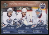 2007/08 McDonald's Upper Deck Three Stars Checklists #CL4 Shawn Horcoff/Dwayne Roloson/Ales Hemsky