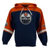 Edmonton Oilers Majestic Navy Ice Classic Fleece Hoodie (Adult M)