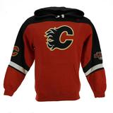 Calgary Flames Majestic Red Ice Classic Fleece Hoodie (Adult L)