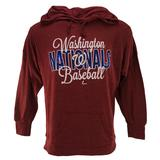 Washington Nationals Majestic Heather Red All Star Act Pullover Hoodie (Womens L)