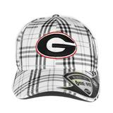 Georgia Bulldogs Top Of The World Flux Plaid Grey & White One Fit Flex Hat (Adult One Size)