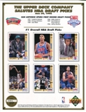 1992 Upper Deck Basketball First Round Draft Picks Commemorative Sheet