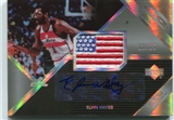 2006/07 Upper Deck Black Autographs US Flags Patch #EH Elvin Hayes 12/25