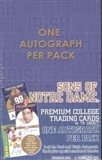 2004 TK Legacy Sons of Notre Dame Football Hobby Box