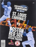 World Series Baseball 2004 Program (Boston Red Sox vs. St. Louis Cardinals)