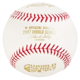 Rawlings 2007 World Series Commemorative Official Baseball (Slightly Stained)