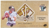 2011 Upper Deck SP Authentic Football Hobby Box - Cam Newton RC's!
