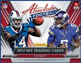 2014 Panini Absolute Football Hobby 10-Box Case (Presell)