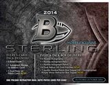 2014 Bowman Sterling Football Hobby 8-Box Case - DACW Live 30 Spot Random Team Break #1