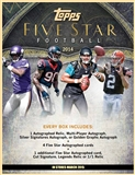2014 Topps Five Star Football Hobby Box (Presell)