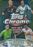 2014 Topps Chrome MLS Soccer 8-Pack Box