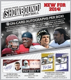 2014 Press Pass Showbound Football Hobby 10-Box Case (Presell)