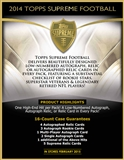 2014 Topps Supreme Football Hobby Box (Presell)