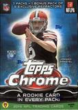 2014 Topps Chrome Football 7-Pack Box (One Rookie Relic Card Per Box!)
