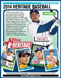 2014 Topps Heritage Baseball Hobby 12-Box Case (due March)