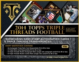 2014 Topps Triple Threads Football Hobby 9-Box Case (Presell)