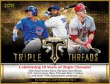 2015 Topps Triple Threads Baseball Hobby 9-Box Case (Presell)