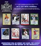 2016 Leaf Metal Draft Baseball Hobby 12-Box Case (Presell)