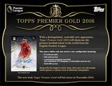 2016 Topps Premier League Gold Soccer Hobby 12-Box Case (Presell)