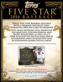 2016 Topps Five Star Baseball Hobby Box (Presell)