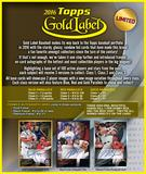 2016 Topps Gold Label Baseball Hobby 16-Box Case (Presell)