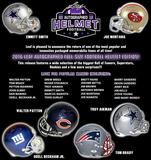 2016 Leaf Autographed Full Size Helmet Football Hobby 3-Box Case (Presell)
